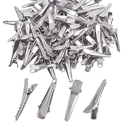 Metall Haarklemmen, Aylifu 100 Stk. Metall Haarclips Haarspangen Alligator Haarklemmen Rohling DIY Zubehör für Handwerksprojekte - 3cm Lang