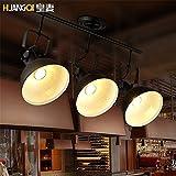 Larsure Vintage Modern Deckenleuchten Loft industrielle retro Lights Bar Cafe Geschäfte und eine Lampe, LED Deckenstrahler, 720*380 mm Belichtung