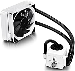 DEEPCOOL Gamer Storm CAPTAIN 120EX WHITE CPU Liquid Cooler AIO Water Cooling Ceramic Bearing Pump Visual Liquid Flow with 120mm PWM Fan Support LGA 2011-v3 and AM4 Compatible
