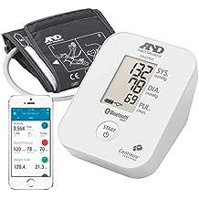 A&D Medical-651BLE Tensiómetro de Brazo, color blanco, Bluetooth, aplicación A&D Connect