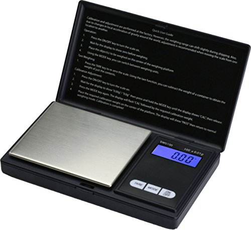 Smart Weigh SWS100 Digitale Taschenwaage Feinwaage Digitalwaage Goldwaage Münzwaage 100 x 0.01g