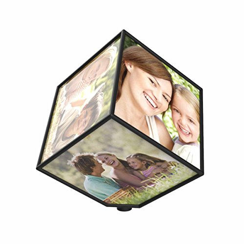 Revolving Photo Cube - Magically Displays 6 Photos by TC
