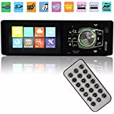 GHB Auto Radio Coche Estéreo Bluetooth Manos Libres 4.1''Reproductor Multimedia Pantalla Coche In-Dash Reproductor Auto Audio MP3 MP4 MP5 AM FM USB SD
