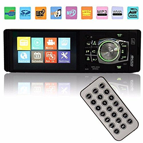 GHB Auto Radio Coche Estéreo Bluetooth Manos Libres 4.1''Reproductor Multimedia Pantalla Coche In-Dash Reproductor Auto Audio MP3 MP4 MP5 AM FM USB SD