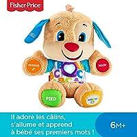 Fisher-Price Puppy Eveil Progressif Jouet Bébé, Peluche Interactive, Plus de 50 Chansons et 3 Niveaux d'Apprentissage, 6 Mois et Plus