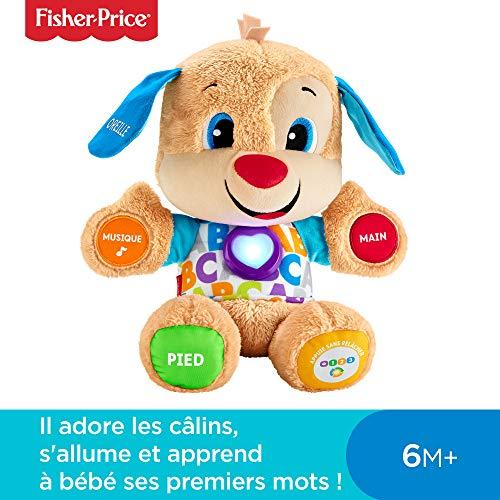 Fisher-Price Puppy Eveil Progressif Jouet Bébé, Peluche Interactive, plus de 50 Chansons et 3 Niveaux d'Apprentissage, 6 Mois et plus, FPM44