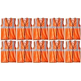 """Aktion Safety Jacket AK601 with 2"""" PVC Reflective Tape, Pack of 10"""