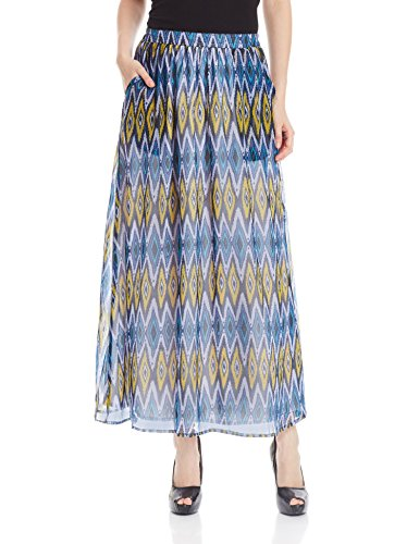 The Vanca Women's A-Line Skirt (SKF350141-Blue-L )  available at amazon for Rs.499