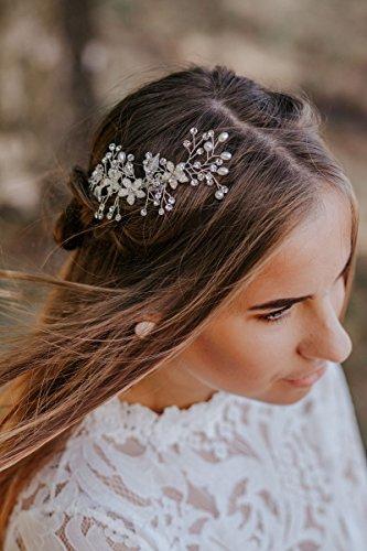 f1760bd3999e Sweetv Accessori Sposa Capelli Fermaglio Capelli Sposa Per Le Spose  Damigella D Onore