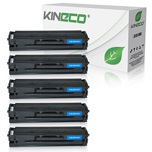 5 Kineco XXL Toner (150{e3c3679905de7766026aaa6655029b87c18997970eff05200b1d64698a72058a} mehr Inhalt!) kompatibel zu Samsung MLT-D111S für Samsung M2026W, M2022W, M2022, M2070W, M2070FW, M2020, M2000 - MLTD111S/ELS Schwarz je 2.500 Seiten