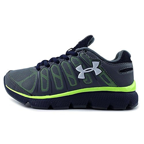 Under Armour BPS Pulse II Synthétique Chaussure de Course GRV-ADY-WHT