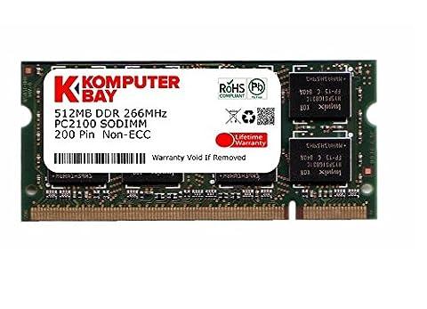KOMPUTERBAY 512MB DDR SODIMM (200 pin) 266Mhz DDR266 PC2100 LAPTOP (Ddr Sdram A 266 Mhz)