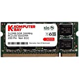 Komputerbay KB_512MBSODDR266_1 - Memoria 512MB DDR SODIMM para portátiles (200 pines) 266Mhz, DDR266, PC2100