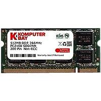 Komputerbay 512MB DDR SODIMM (200 pin) 266Mhz PC2100 DDR266 MEMORIA (Ddr Sdram A 266 Mhz)