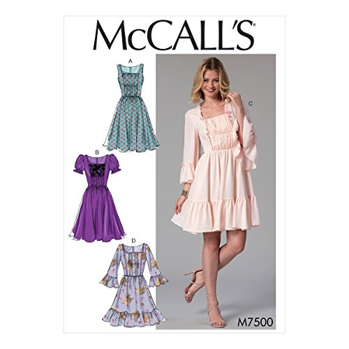 McCall's Patterns 7500 E5, Robes, Tailles 14-22, Multi/Couleur