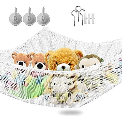 Vine Amaca più grande per Peluche Tenere Bambini / Ragazzi da letto Idea Tidy maglie di archiviazione per Nursery Play Può essere uesed come un amaca angolo