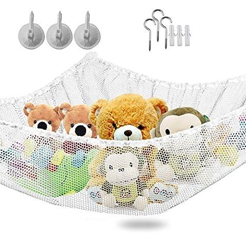 Vine Toy Hammock Grande Taille Storage Net Pour Peluches, excellent pour stockage Nursery, Jouets Jeux Organisation et PDAs