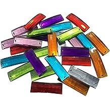 Rectangular 45mm grandes multicolor reluciente piedras para coser brillantes piedras para coser (redondas acrílico Piedras gltzer piedras joyas piedras brillantes cristales decorativos para decorar de Crystal King