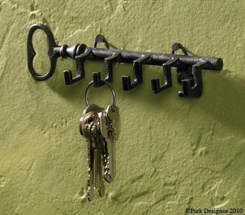 Key Shaped Key Hook Rack Antiqued Look by Park Designs