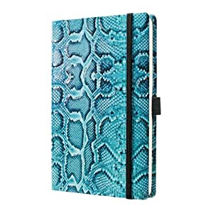 Sigel CO555 Notizbuch, Design Python, ca. A5, Dot-Lineatur (punktkariert), Hardcover, blau-schwarz, CONCEPTUM