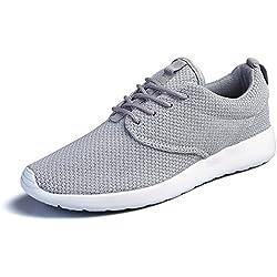 Scarpe sportive da uomo Tempo libero viaggi jogging moda scarpa , grey , UK 7.5 / EU 41