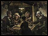 Vincent Van Gogh Poster Kunstdruck und MDF-Rahmen Schwarz - Die Kartoffelesser, 1885 (80 x 60cm)