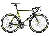 Bergamont Prime RS Carbon Rennrad schwarz/gelb/weiß 2016: Größe: 55cm (174-179cm)