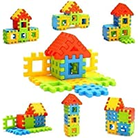 BKDT Marketing Happy Home House Building Block Toy Game Set for Kids (16 Pc Block Set)
