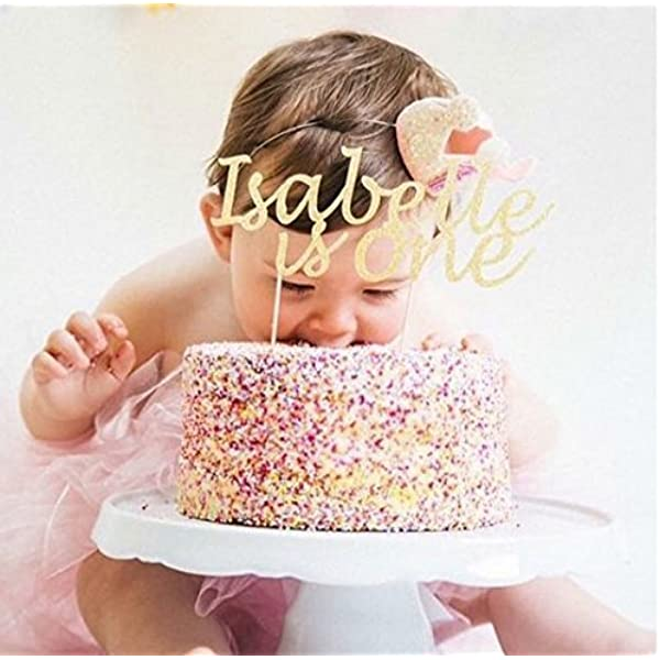 Any Name Any Age 1 x Personalised Girly Glitter Lilac Cake Topper   Birthday Many Colours Personalised Birthday Party