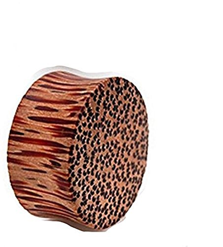 11mm Natürliche Coco Coco Massivholz Ohr-Stecker-Tunnel Piercing Sattel edelsten Materialien Coco Fett