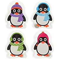 MIK Funshopping Lot de 4 chauffe-mains pingouin colorés