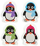 "MIK funshopping Scaldamani Tascabile ""Colourful Penguins"", Set da 4 Pezzi"