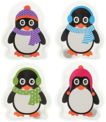 MIK funshopping Hand- & Taschenwärmer Set Colourful Penguins (4er-Set)
