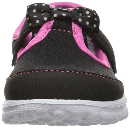 Skechers Go Walk Bitty Bow Mädchen Laufschuhe Black (Black Hot Pink)