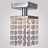 GCP Moderne LED-Deckenleuchte Eckige K9 Kristall Deckenlampe Minimalistische Design Creative Crystal Beleuchtung Persönlichkeit Deko Elegantes G9 Glühlampe Flurlampe Treppenleuchten Loft