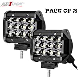 #9: Allextreme Heavy Duty 36 Watt Cree , 12 Led Fog Light / Work Light Bar Spot Beam, 2 Pcs