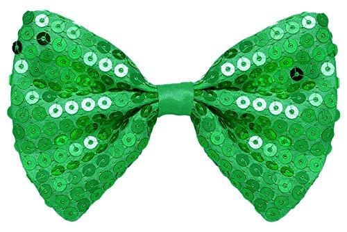 Funny Fashion Exklusive Pailletten Fliege zum Show Kostüm für Erwachsene - Grün (Kostüm Fashion Show)