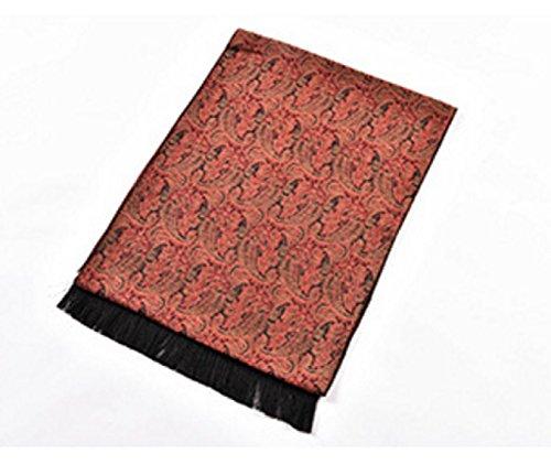 ZHANGYUQI Mode Warme Seide Gemischt Pullover Im Langen Absatz Schal Schal,Red