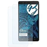 Bruni Schutzfolie kompatibel mit bq Aquaris E6 Folie, glasklare Bildschirmschutzfolie (2X)