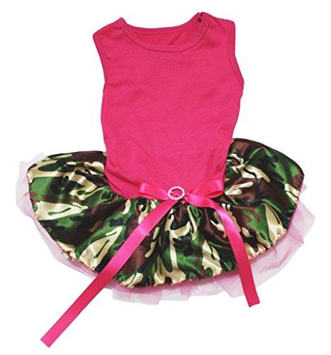ink Baumwolle Shirt Camouflage Tutu 1Hund Kleid ()