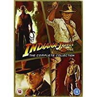 Indiana Jones Complete All Films DVD (4 Discs) Box Set Movie Collection: Part 1: Raiders of the Lost Ark, 2: Temple of Doom, 3: Last Cruade, 4: Kingdom of the Crystal Skull + Special Features + Extras