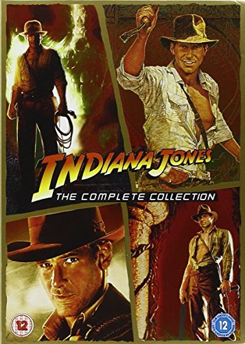 Indiana Jones Complete All Films Dvd (4 Discs) Box Set Movie Collection: Part 1: Raiders Of The Lost Ark, 2: Temple Of Doom, 3: Last Cruade, 4: Kingdom Of The Crystal Skull + Special Features + Extras Picture