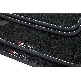 teileplus24 EF808-FBA Fußmatten mit Exclusive-line Design Bandeinfassung und Ziernähten