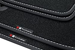 teileplus24 EF204-FBA Fußmatten Gummimatten Exclusive-line Design Bandeinfassung Ziernähte