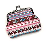 Shuiyibali Special Retro Ethnic Style Women Pu Hasp Münze Purse Colorful Printing Girl Clutch...