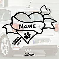 #3 Hunde Knochen Love mit Wunschtext | Name | Auto Aufkleber | Hund | Haustier | Wunschtext