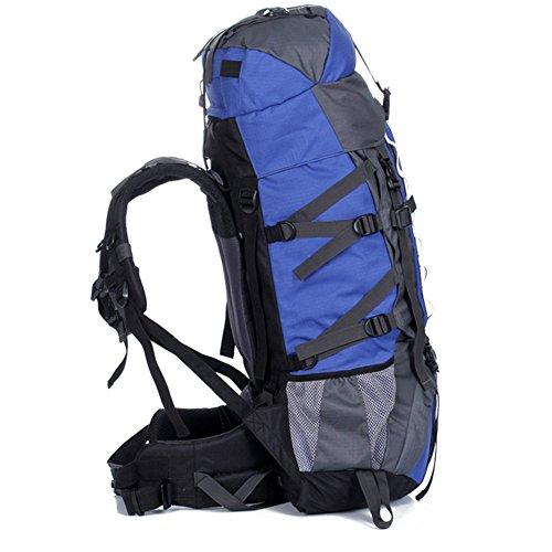 80L Outdoor Wanderrucksack Wasserdichter Trekking Rucksack Professioneller Outdoor Bergsteigen Rucksack mit Regenhülle, 90 x 35 x 25 cm Schwarz
