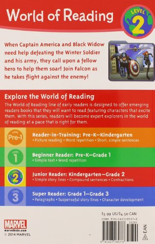 Falcon Takes Flight (World of Reading, Level 2: Captain America: the Winter Soldier)