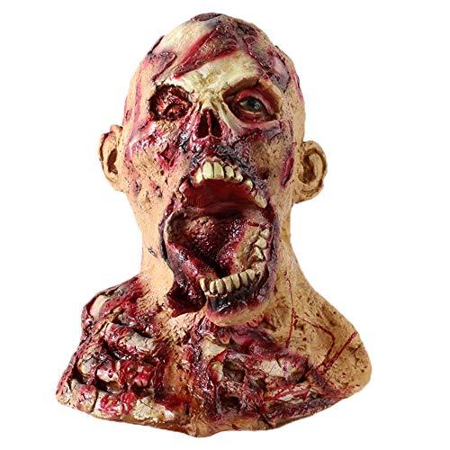 Marine Zombie Kostüm - Skxinn Halloween Maske Sinister Die Horror-Maske aus Latex Zombie Zum Gruseln Cosplay Partei-Kostüm-Abendkleid Für Männer und Frauen(K,One size)