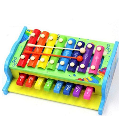 Combo-trommel (Luxury-uk Tolles Baby Spielzeug Geschenk Multifunktions-Holz Kinder-Combo klopfen auf Xylophon (Elefant) für Geburtstag Weihnachtsfest)